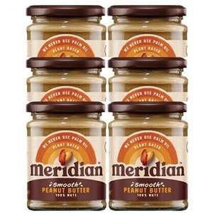 (6x280g Dose, 11,77 EUR/1Kg) Meridian Foods Peanut Butter (6x280g) Crunchy with