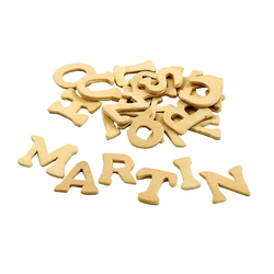 VBS Deko-Buchstaben Holz-Buchstabenmix, 26 Stück