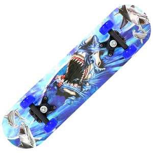 BaZhaHei Kinderskateboards Retro Komplettboard Sport Komplettes Skateboard 17 Zoll Geschenke für Skateboarder Kind Anfänger und Pro (17inch, A)