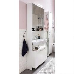 Waschtisch Umbau in Weiß Spiegel