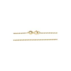 JuwelmaLux Goldkette Halskette Gold Kordelkette 45 cm (1-tlg), Damen Halskette Gold 585/000, inkl. Schmuckschachtel
