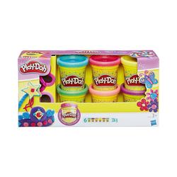 Hasbro Knete Play-Doh Knet-Dosen 6er-Pack - Glitzerknete
