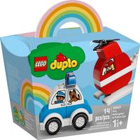 Lego Duplo Mein erster Feuerwehrhubschrauber und mein erstes Polizeiauto 10957