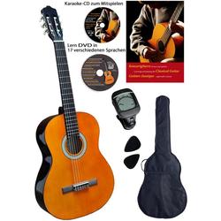 Clifton Konzertgitarre Clifton - Konzertgitarre 4/4 4/4, Komplettset