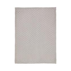 Kinderdecke Strickdecke Karo grau 75 x 100 cm, Alvi® grau