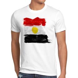 style3 Print-Shirt Herren T-Shirt Flagge Ägypten Fußball Sport Egypt WM EM Fahne weiß XL