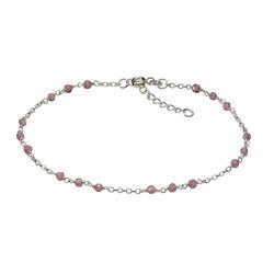 Vivance Fusskette 925/- Sterling Silber rhod. Kristalle weiß