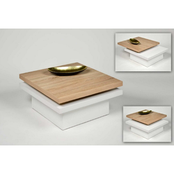 Küchen-Preisbombe Couchtisch Wohnzimmer Couchtisch Sofatisch Beistelltisch Tisch Couch Sonoma Weiß schwenkbar