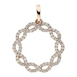 JOBO Kettenanhänger, 585 Roségold mit 90 Diamanten