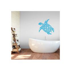 Wall-Art Wandtattoo Schildkröte blau