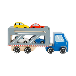 Small Foot Spielzeug-Auto Autotransporter Premium, (6-tlg)