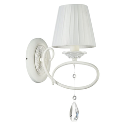 Casa Padrino Barockstil Kristall Wandleuchte Weiß 14 x 30 x H. 37 cm - Barock Wandlampe