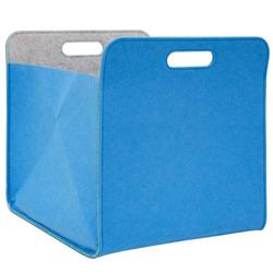 Filz Aufbewahrungsbox 33x33x38 cm Kallax Filzkorb Regal Einsatz Box Filzbox Blau