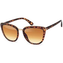 styleBREAKER Sonnenbrille Cat-Eye Schmetterling Sonnenbrille Getönt braun