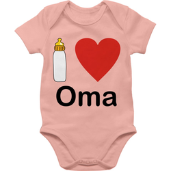 Shirtracer Shirtbody I love Oma Nuckelflasche - Strampler Motive - Baby Body Kurzarm 6/12 Monate