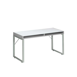 Schreibtisch in Hellgrau Glasplatte