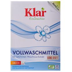 KLAR Vollwaschmittel Pulver (2,475 kg) mit natürlichem Waschnuss-Extrakt