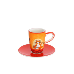 Mila Espressotasse Mila Keramik Espresso-Tasse mit Untere Oommh Katze
