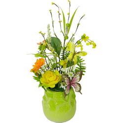 Kunstpflanze Blüten/Schmetterling, I.GE.A., Höhe 40 cm