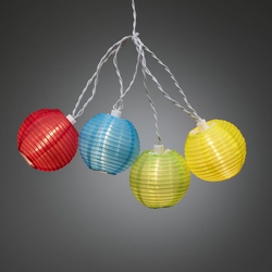 Konstsmide LED-Dekolichterkette Lampions 40 bunte Lampions, 9.75 Meter, IP44