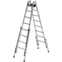 Günzburger Aluminium-Stehleiter treppengängig 2 x 8 Sprossen (33516)
