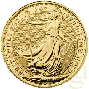 1 Unze Goldmünze Britannia 2021