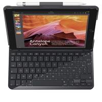 Logitech Slim Folio Case mit Tastatur FR für iPad 5/6 schwarz