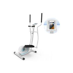 KLARFIT Crosstrainer Myon Cross Crosstrainer 12kg Schwungmasse SilentBelt System weiß
