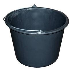 Bau-Eimer 20,0 l, Ø 37,0 cm, 'Profi', schwarz, Skalierung, leicht