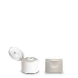 Klappscharnierverschluss - weiß - PP - 28/410
