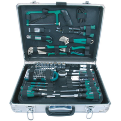 Brüder Mannesmann Werkzeuge Werkzeugset Alu-Werkzeugkoffer, (Set, 124-St)