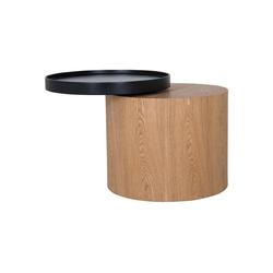 mokebo Couchtisch Der Stämmige, auch als Beistelltisch im skandinavischen Design natur 48 cm x 44 cm x 48 cm