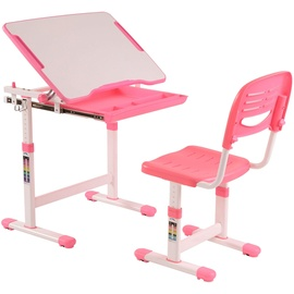 Vipack Kinderschreibtisch Comfortline (Set, mit Stuhl) weiß/rosa