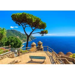 Fototapete Panorama Ravello Amalfi, glatt 3 m x 2,23 m