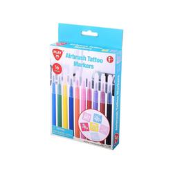 Playgo Dekorierstift Airbrush Tattoo Markers - 10 Stifte & 6 Schablonen