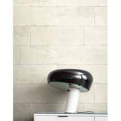 Newroom Vliestapete, Weiß Tapete Modern Stein - Beton Creme Grau Steintapete Steinoptik Backstein Industrial Bauhaus für Wohnzimmer Schlafzimmer Küche weiß