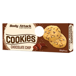 Body Attack - Chocolate Chip Cookies Kekse - 115g