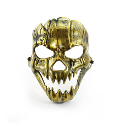 Maske Totenkopf Schädel metallisch Halloween Fasching Karneval - gold
