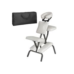 tectake Massagesessel Massagestuhl aus Kunstleder (1-St) weiß