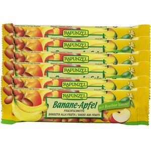 Rapunzel Bio Fruchtschnitte, Banane-Apfel 6X40 g Riegel