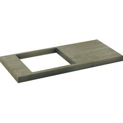 Keuco Waschtischplatte EDITION 11 700-900 mm, inkl. 2 Konsolen Eiche hell