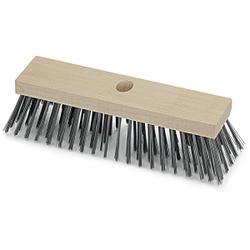 Stahldrahtbesen, Drahtbesen aus Flachholz mit Stielloch, 6-reihig, Breite: 30 cm