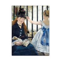 Bilderdepot24 Leinwandbild, Leinwandbild - Édouard Manet - Die Eisenbahn 30 cm x 40 cm