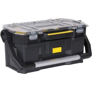 Stanley Werkzeugkoffer (56 x 32 x 25 cm, mit Organizeraufsatz, getrennt verwendbar, Koffer mit rostfreien Metallschließen, stabiler Koffer für Werkzeuge und Kleinteile) STST1-70317