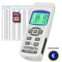 Thermometer PCE-T390 | K-Typ, J-Typ und Pt100 | -100 bis +1370