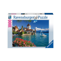 Ravensburger Puzzle Puzzle 1000 Teile, 70x50 cm, Am Thunersee Bern, Puzzleteile