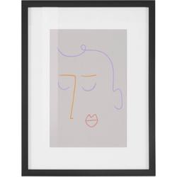 COUCH♥ Bild Gesichtet, Gesicht (1 Stück) beige 30 cm x 40 cm