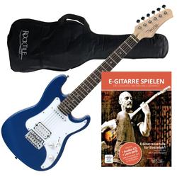 Rocktile Sphere Junior E-Gitarre 3/4 Blau + Gitarren-Schule