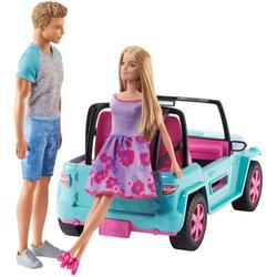 Barbie und Ken mit Strand-Jeep