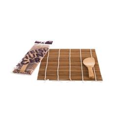 Reishunger Sushi-Roller Reishunger Sushi Rollmatte aus Bambus mit Löffel (24x24cm) - Für die Zubereitung von Maki-Sushi - erhältlich als 1er, 4er und 10er Pack, (Set mit Sushi Rollmatte und Löffel 10-tlg)